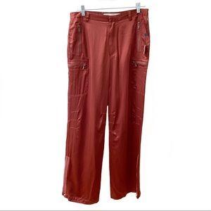 Max Studio Silk Wide Leg Parachute Pants Size 8